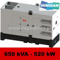 FDG 650 DS - moc ( 639 kVA = 511 kW ) - agregaty prądotwórcze fogo, model FDG650DS kod FD650ACG