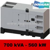 FDG 700 DS - moc ( 687 kVA = 550 kW ) - agregaty prądotwórcze fogo, model FDG700DS kod FD700ACG