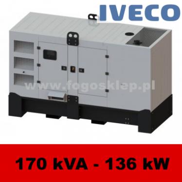 FDG 170 IS - moc ( 172 kVA = 138 kW ) - agregaty prądotwórcze fogo, model FDG170IS kod FI170ACG