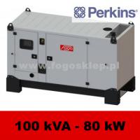 FDG 100 PD - moc ( 100 kVA = 80 kW ) - agregaty prądotwórcze fogo, model FDG100PD kod FP100ACG