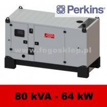 FDG 80 PD - moc ( 81 kVA = 65 kW ) - agregaty prądotwórcze fogo, model FDG80PD kod FP80ACG