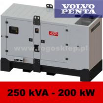 FDG 250 V3S - moc ( 250 kVA = 200 kW ) - agregaty prądotwórcze fogo, model FDG250V3S kod FV250ACGstage3A