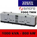 FDT 1000 VS - moc ( 1000 kVA = 800 kW ) - agregaty prądotwórcze fogo, model FDT1000VS kod FV1000ACGTWIN