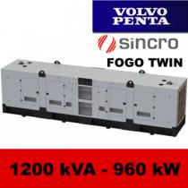 FDT 1200 VS - moc ( 1188 kVA = 950 kW ) - agregaty prądotwórcze fogo, model FDT1200VS kod FV1200ACGTWIN