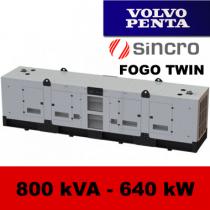 FDT 800 VS - moc ( 800 kVA = 640 kW ) - agregaty prądotwórcze fogo, model FDT800VS kod FV800ACGTWIN
