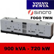 FDT 900 VS - moc ( 900 kVA = 720 kW ) - agregaty prądotwórcze fogo, model FDT900VS kod FV900ACGTWIN
