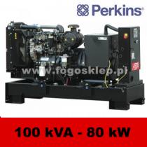 FDF 100 PD - moc ( 100 kVA = 80 kW ) - agregaty prądotwórcze fogo, model FDF100PD kod FP100AG