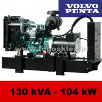 FDF 130 VS - moc ( 128 kVA = 102 kW ) - agregaty prądotwórcze fogo, model FDF130VS kod FV130AG