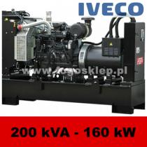 FDF 200 IS - moc ( 200 kVA = 160 kW ) - agregaty prądotwórcze fogo, model FDF200IS kod FI200AG