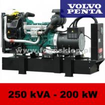 FDF 250 VS - moc ( 250 kVA = 200 kW ) - agregaty prądotwórcze fogo, model FDF250VS kod FV250AG