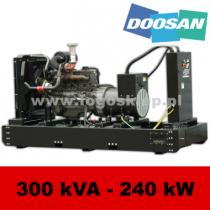 FDF 300 DS - moc ( 300 kVA = 240 kW ) - agregaty prądotwórcze fogo, model FDF300DS kod FD300AG