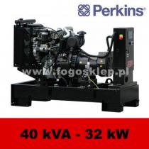 FDF 40 PD - moc ( 40 kVA = 32 kW ) - agregaty prądotwórcze fogo, model FDF40PD kod FP40AG