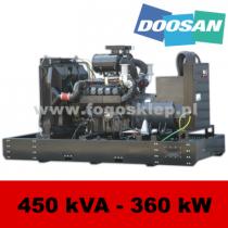 FDF 450 DS - moc ( 450 kVA = 360 kW ) - agregaty prądotwórcze fogo, model FDF450DS kod FD450AG