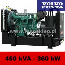 FDF 450 VS - moc ( 450 kVA = 360 kW ) - agregaty prądotwórcze fogo, model FDF450VS kod FV450AG