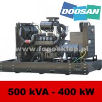 FDF 500 DS - moc ( 500 kVA = 400 kW ) - agregaty prądotwórcze fogo, model FDF500DS kod FD500AG