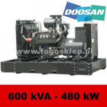 FDF 600 DS - moc ( 570 kVA = 456 kW ) - agregaty prądotwórcze fogo, model FDF600DS kod FD600AG