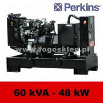 FDF 60 PD - moc ( 60 kVA = 48 kW ) - agregaty prądotwórcze fogo, model FDF60PD kod FP60AG