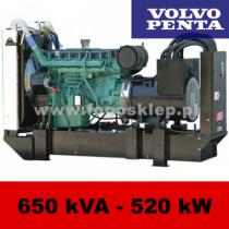 FDF 650 VS - moc ( 634 kVA = 507 kW ) - agregaty prądotwórcze fogo, model FDF650VS kod FV650AG