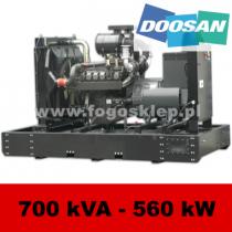 FDF 700 DS - moc ( 687 kVA = 550 kW ) - agregaty prądotwórcze fogo, model FDF700DS kod FD700AG