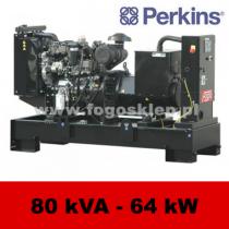FDF 80 PD - moc ( 81 kVA = 65 kW ) - agregaty prądotwórcze fogo, model FDF80PD kod FP80AG